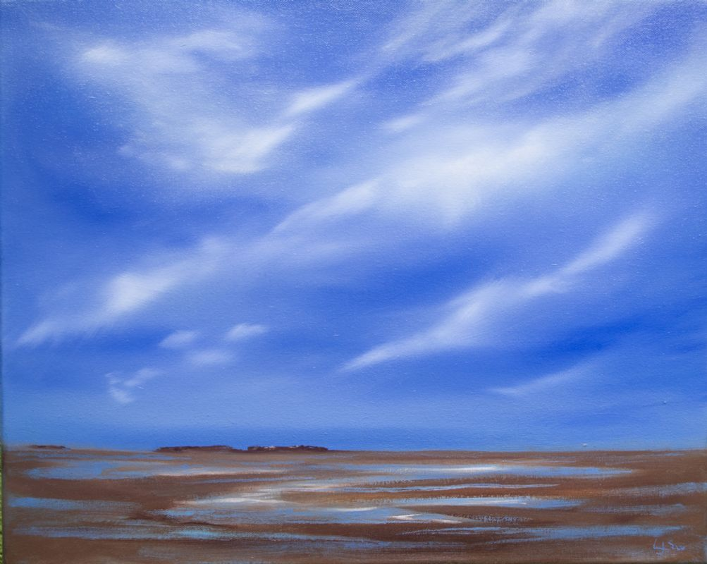 Hilbre Island oil on canvas by Lorna Soar